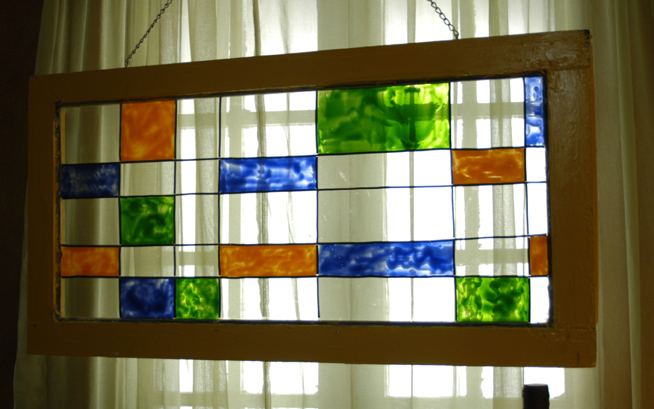 window doover faux stained glass