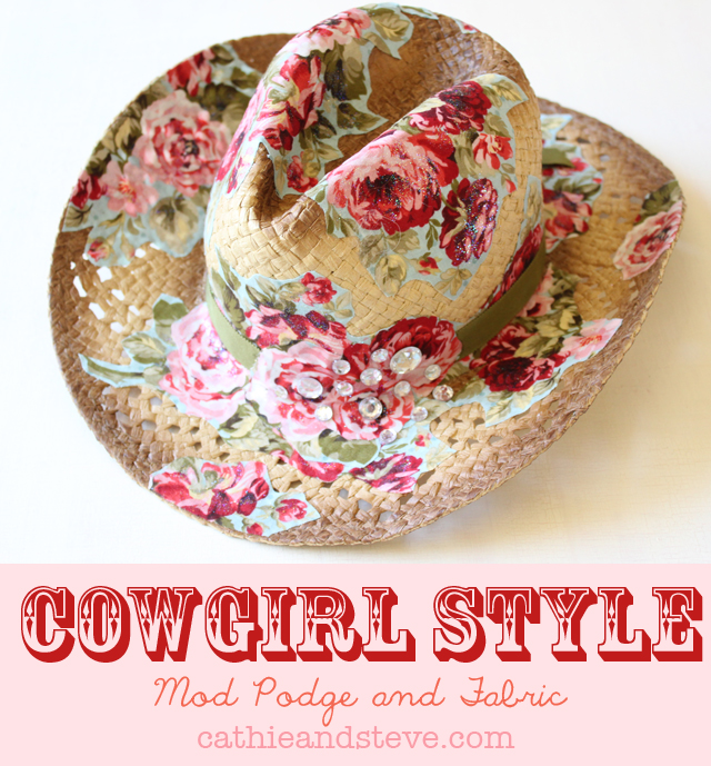 Summer Style: How to Alter a Cowboy Hat with Mod Podge and