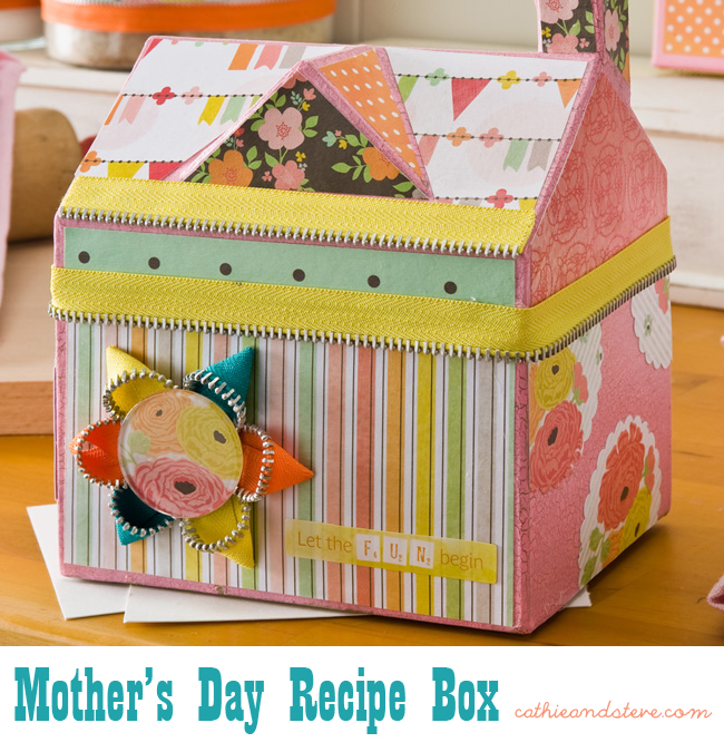 Make a recipe box for mother 39 s day cathie filian for Mod podge recipe
