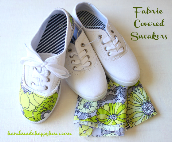 Fabric Covered Tennis Shoes made with
