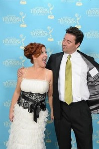 Cathie Filian and Steve Piacenza at Emmys