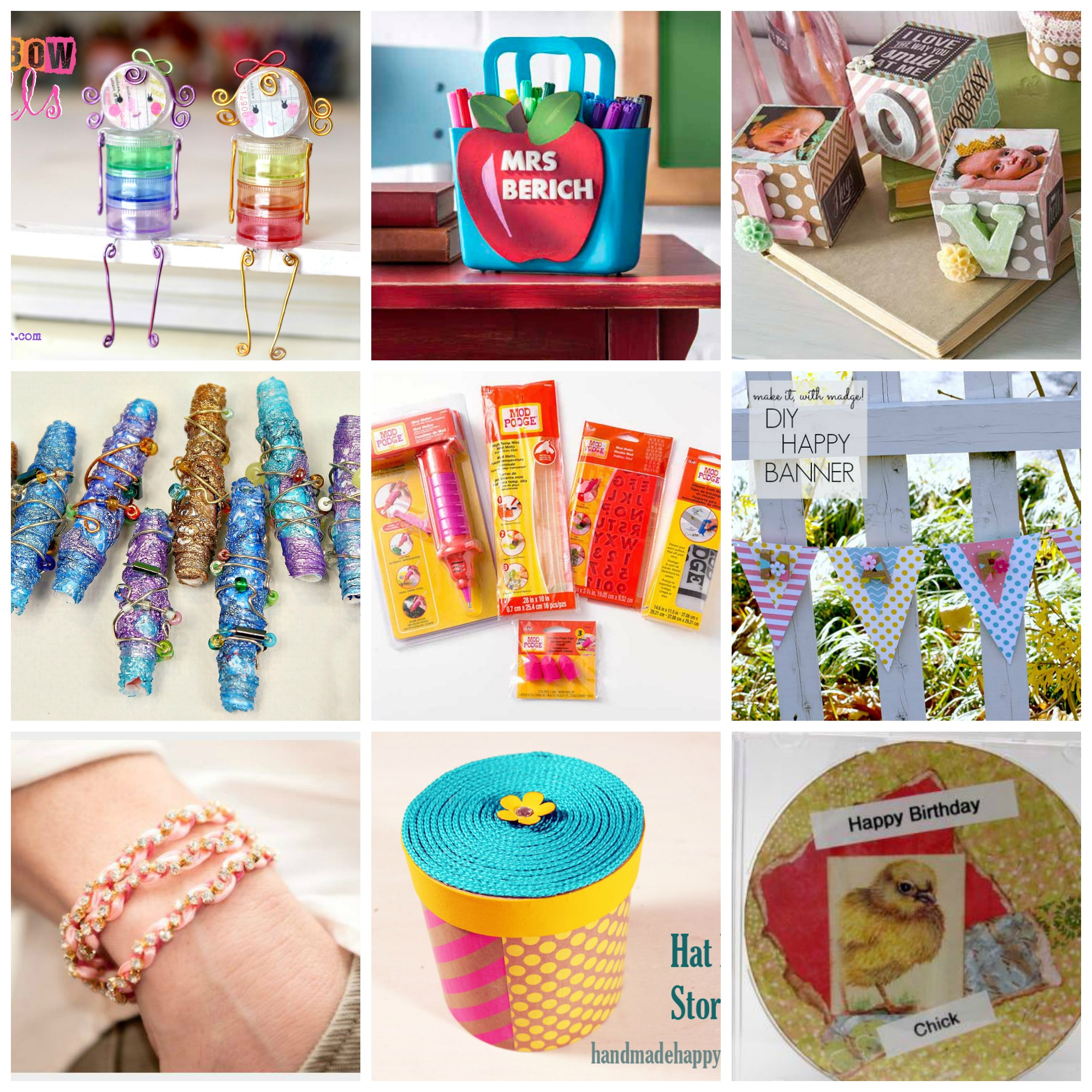 9 Fun Projects Teacher Gifts Paper Crafts Dollar Store Ideas