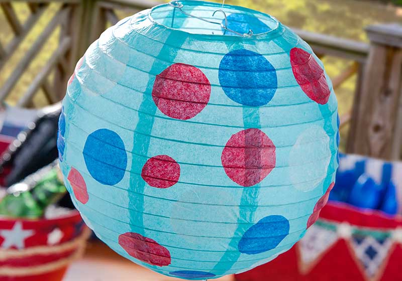 Easy DIY Polka Dot Paper Lanterns with Mod Podge and ...