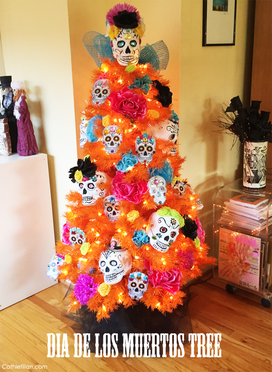 day of the dead dia de los muertos tree