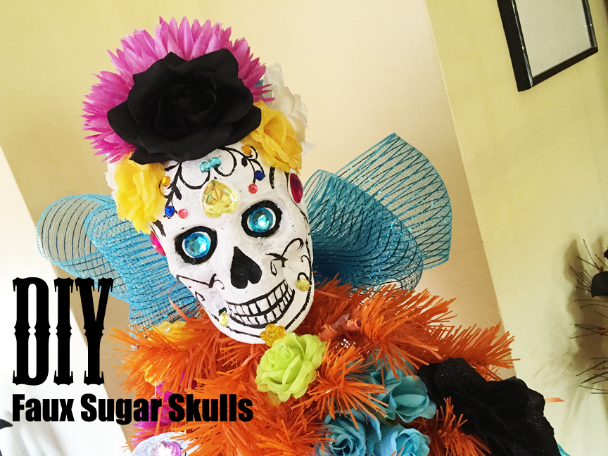 diy faux sugar skulls