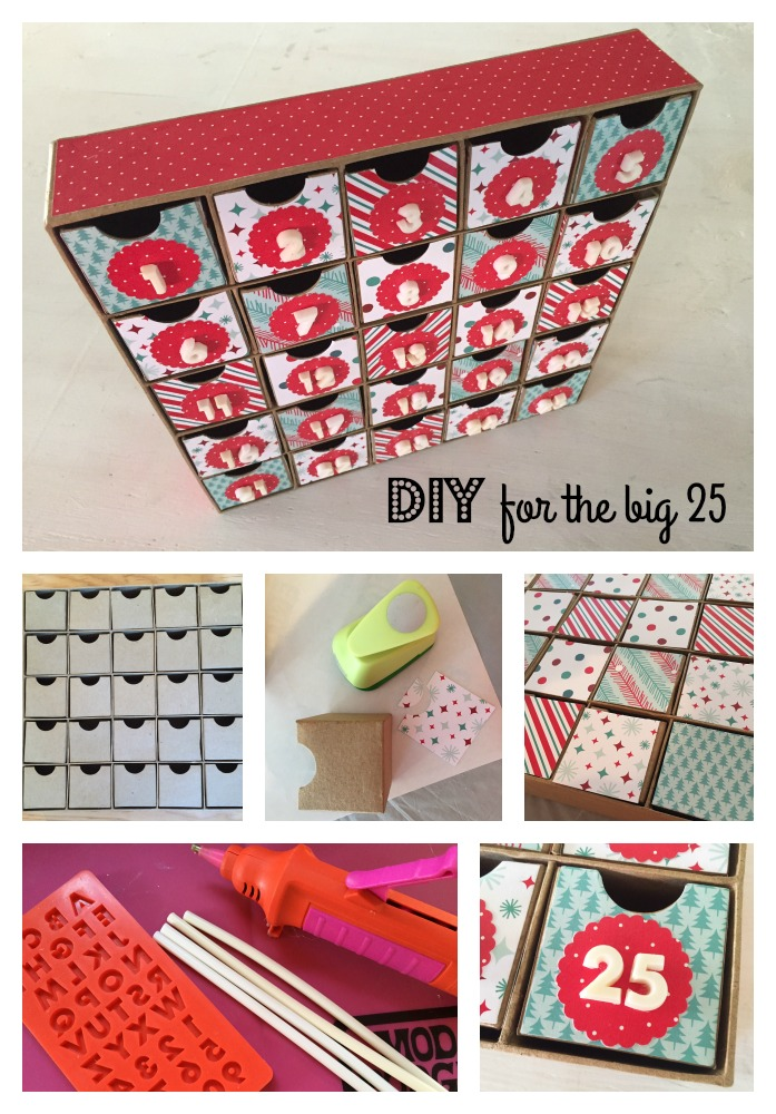 diy countdown christmas craft mod podge