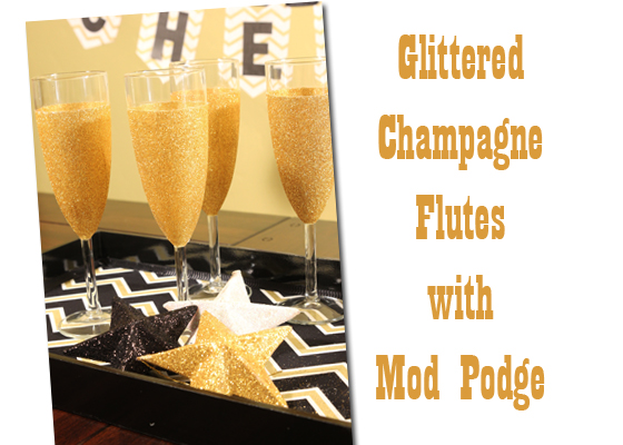 glittered champagne glasses mod podge dishwasher safe