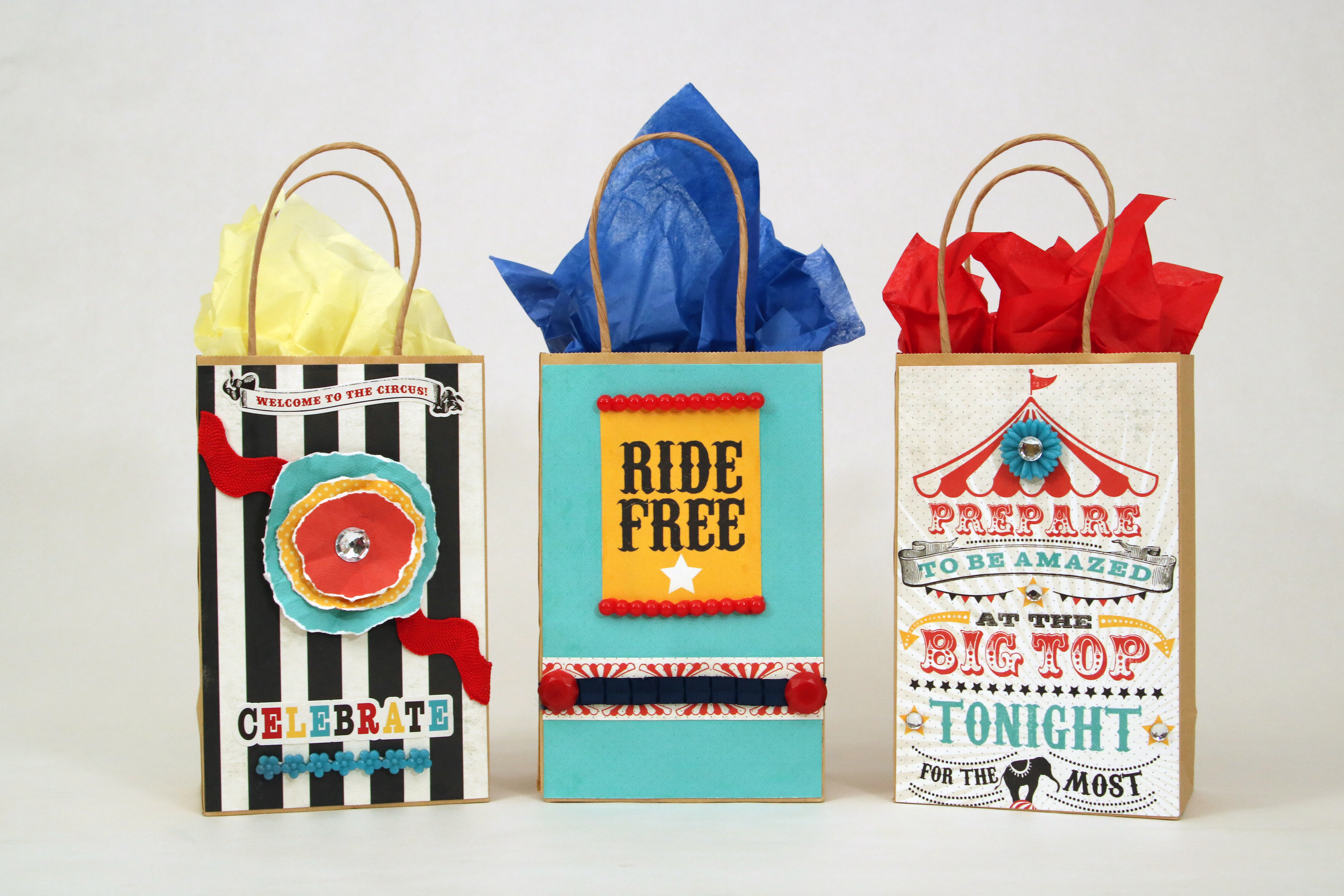 How to Mod Podge Kids Party Favor Bags 2