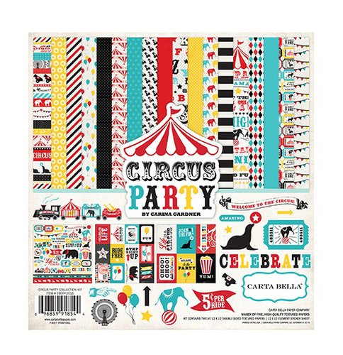 carta bella circus party collection