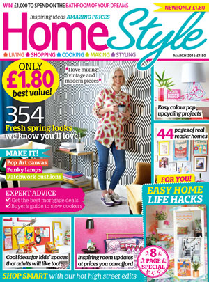 happy to be featured in home style magazine cathie