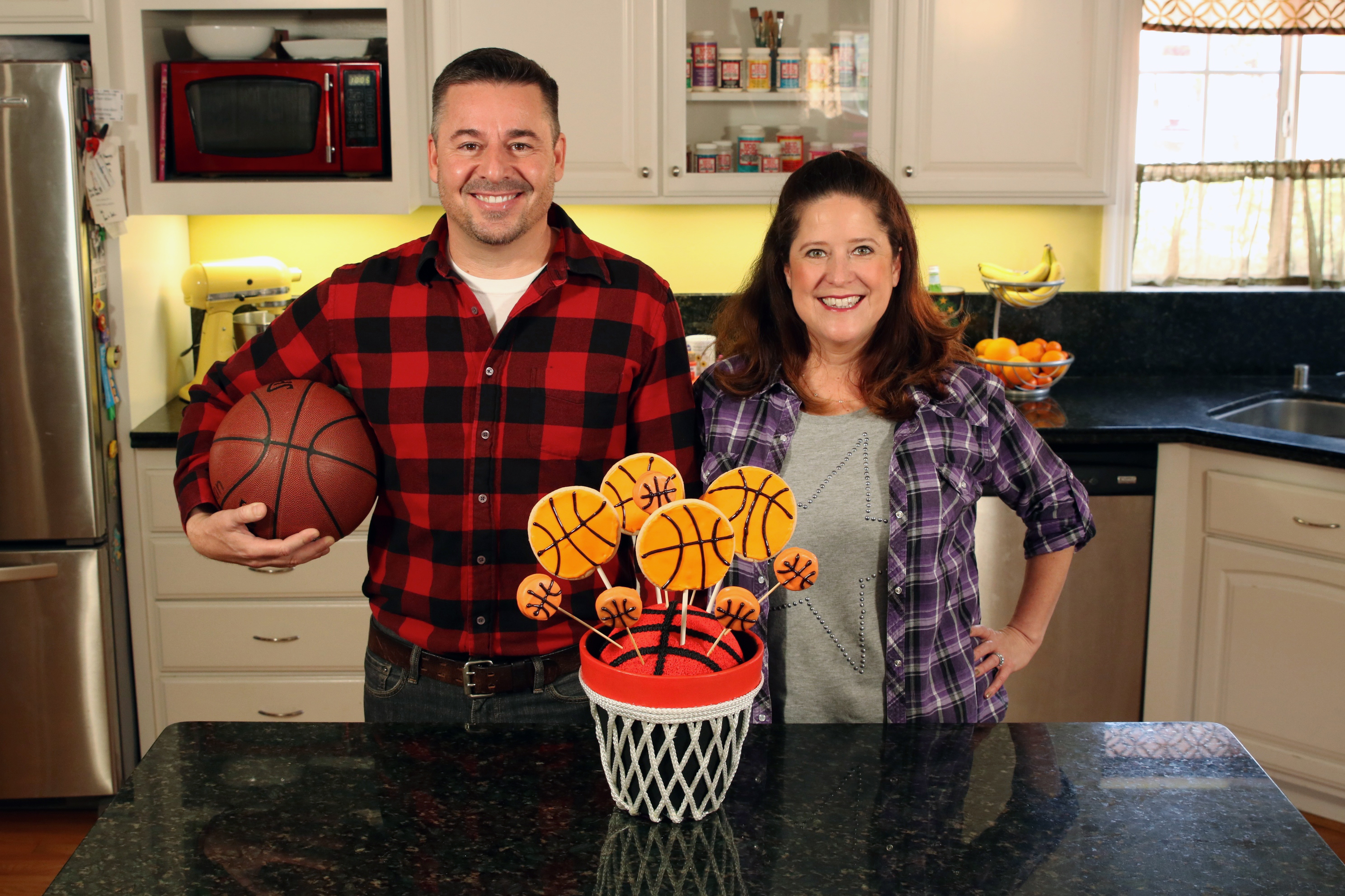 cathie and steve basketball bouquet