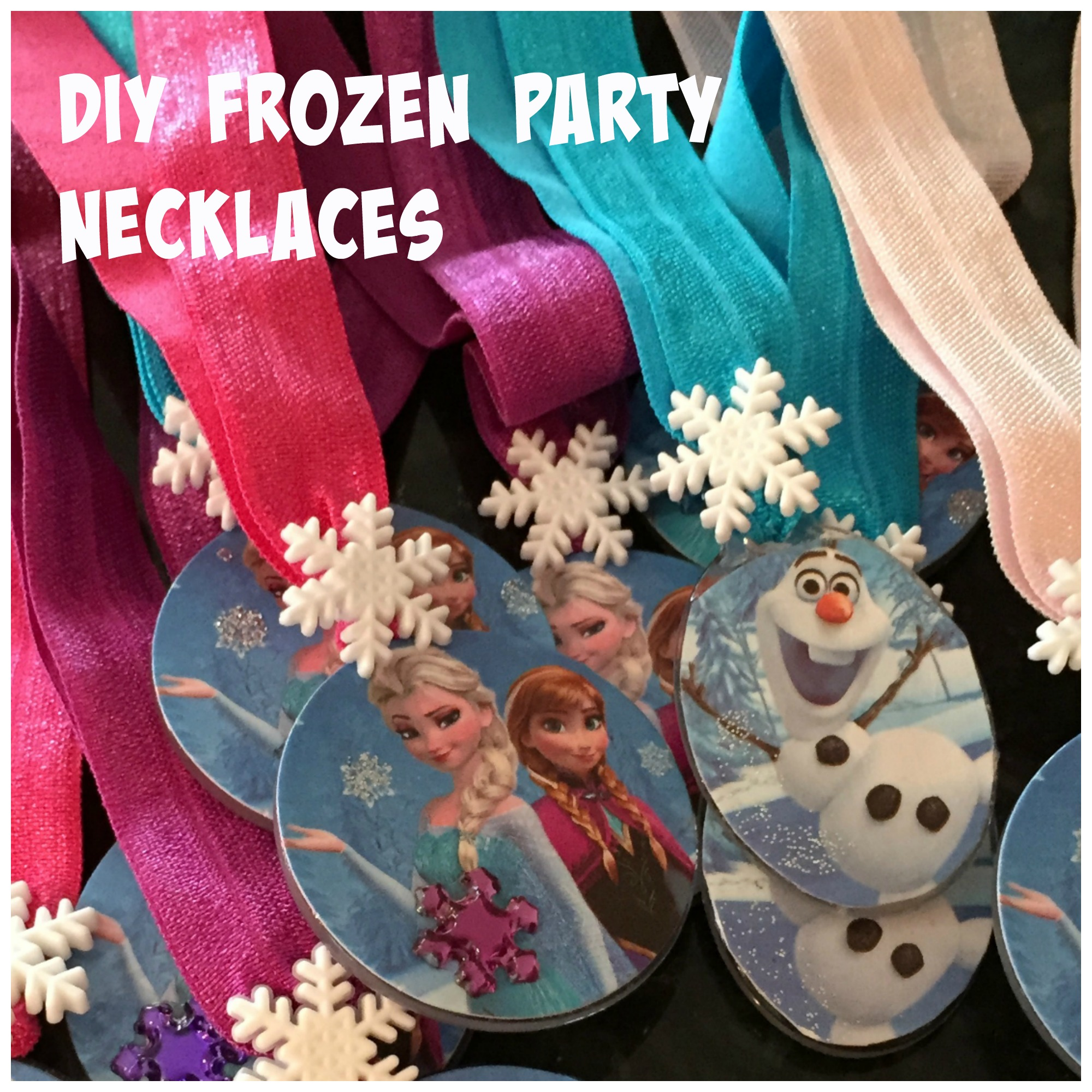 diy frozen necklaces to toddlers