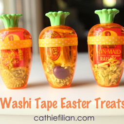 washi tape easter treats candy