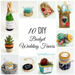 10 diy wedding favors with mod podge