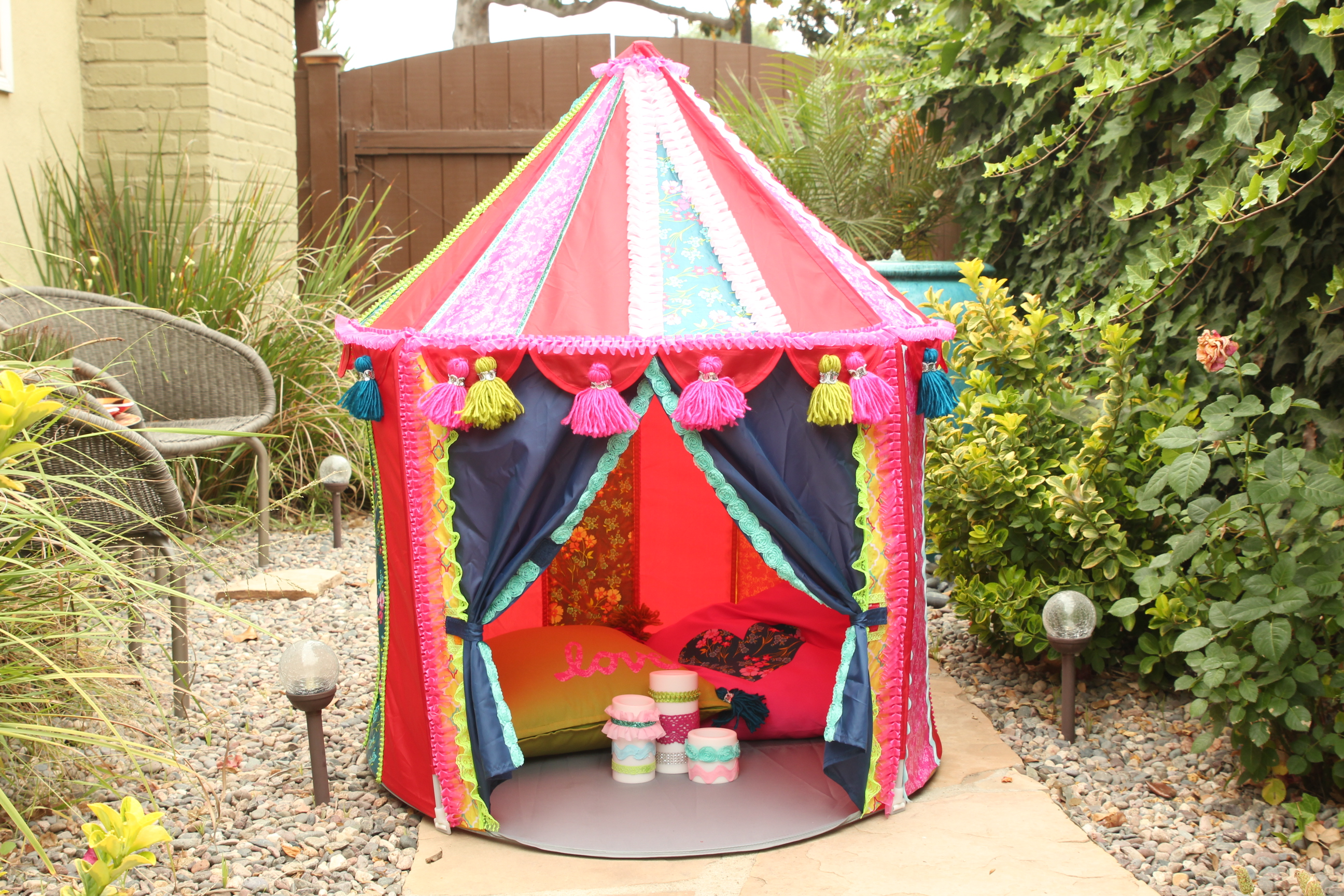 The tent is great for outdoor and indoor play. It is also collapsable for storage. & Ikea Hack! Make a Boho Play Tent from the CIRKUSTÄLT Tent - Cathie ...