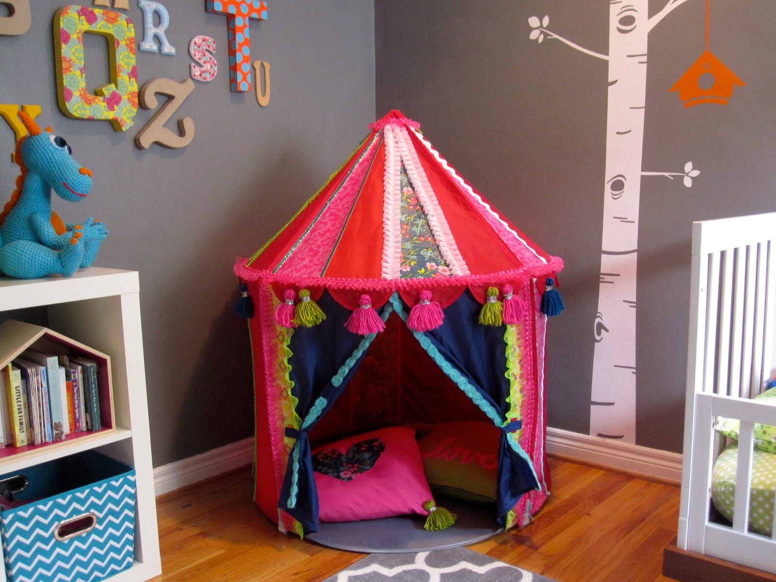 ikea kids tent hack makeover & Ikea Hack! Make a Boho Play Tent from the CIRKUSTÄLT Tent - Cathie ...