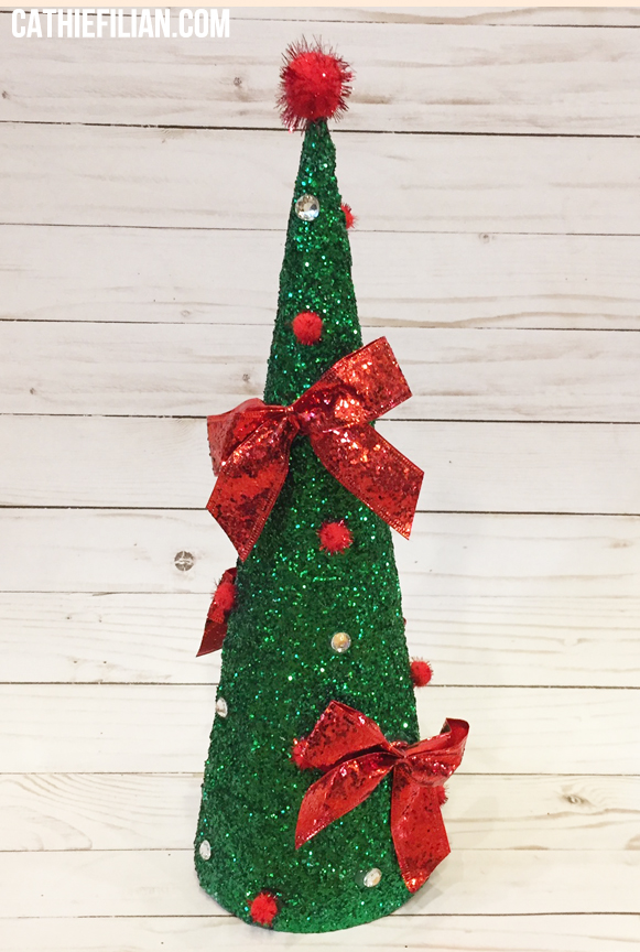 15-green-glitter-red-bow-tree