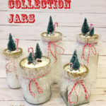 How to Make Snow Collection Jars with Collage Clay