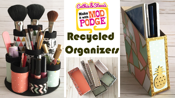 3 Organizing Hacks Using Recycled Materials