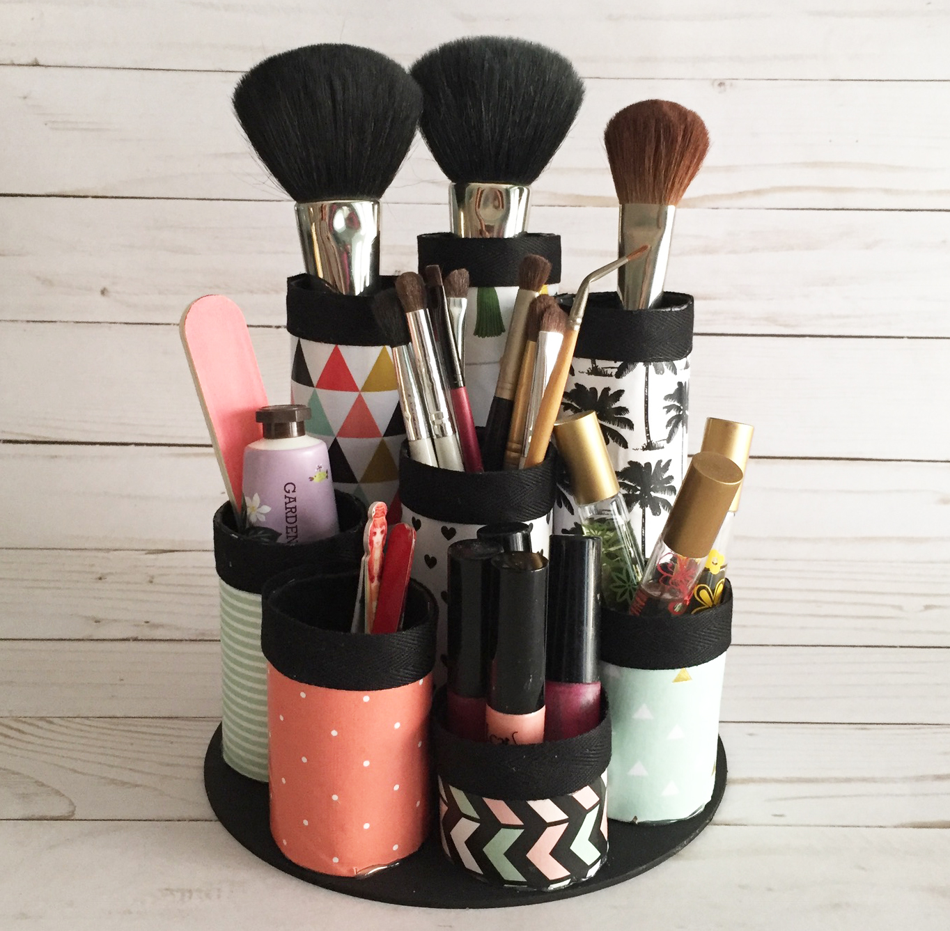 Recycled Paper Towel Tubes | Makeup Organizers And Storage Ideas For Makeup Junkies | Makeup Organizers | best makeup organizer