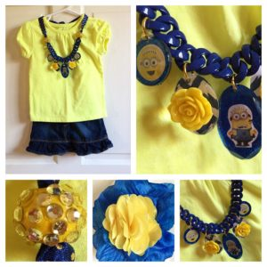 Make A Minions Necklace with Stickers and Mod Podge