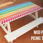 DIY Kids Picnic Table Makeover with Mod Podge
