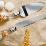 DIY Beach Wedding Cake Server Set