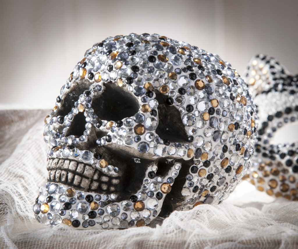 Diy Gold And Black Rhinestone Skull Cathie Filian