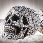 DIY Gold and Black Rhinestone Skull
