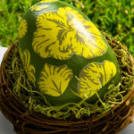 Damask Mod Podge Easter Eggs