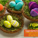 6 Easter Egg Crafts with Glitter, Crackle and Mod Podge