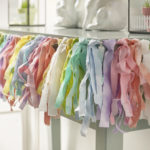 Fringe Fabric Garland Banner for Spring