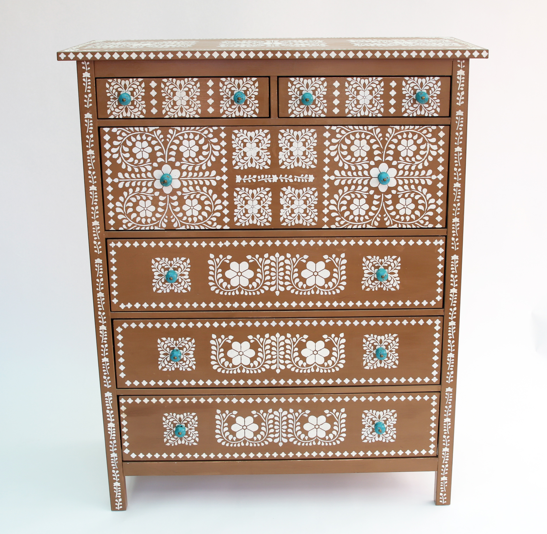 Do You Love The Look Of Bone Inlay Furniture But Not Price Well Can Stencil Your Own Version With Some Cleverly Placed Stencils And A Just Small