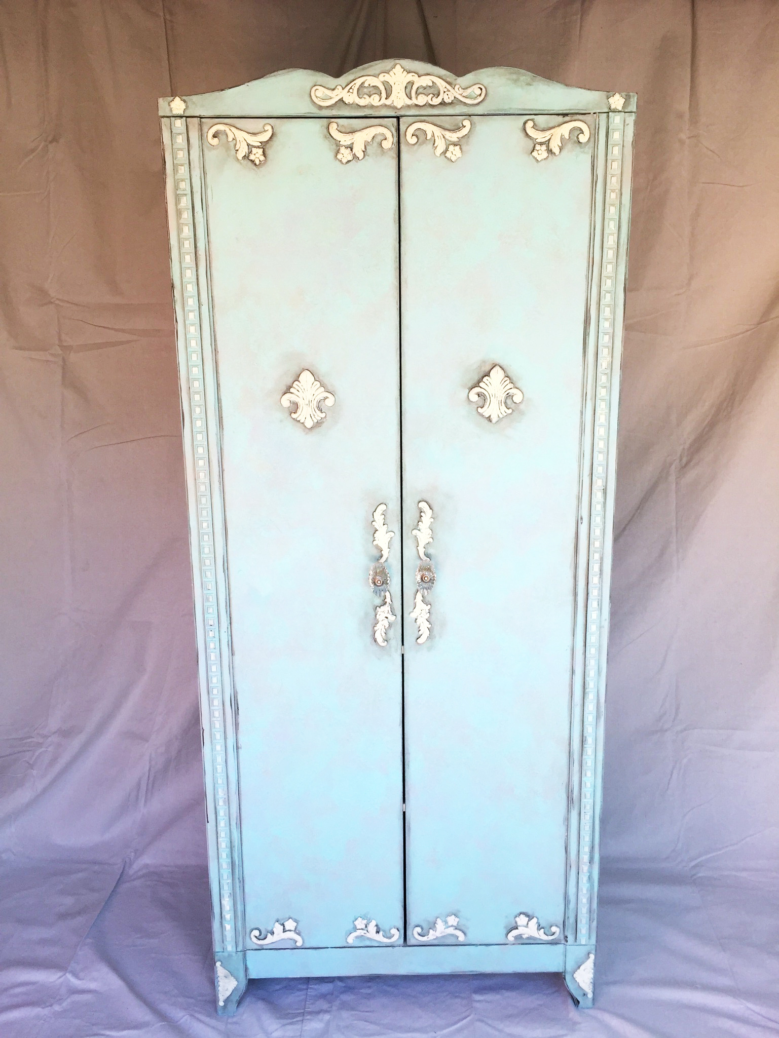 Ikea Hack French Faux Finish Armoire With Folkart Chalk Cathie