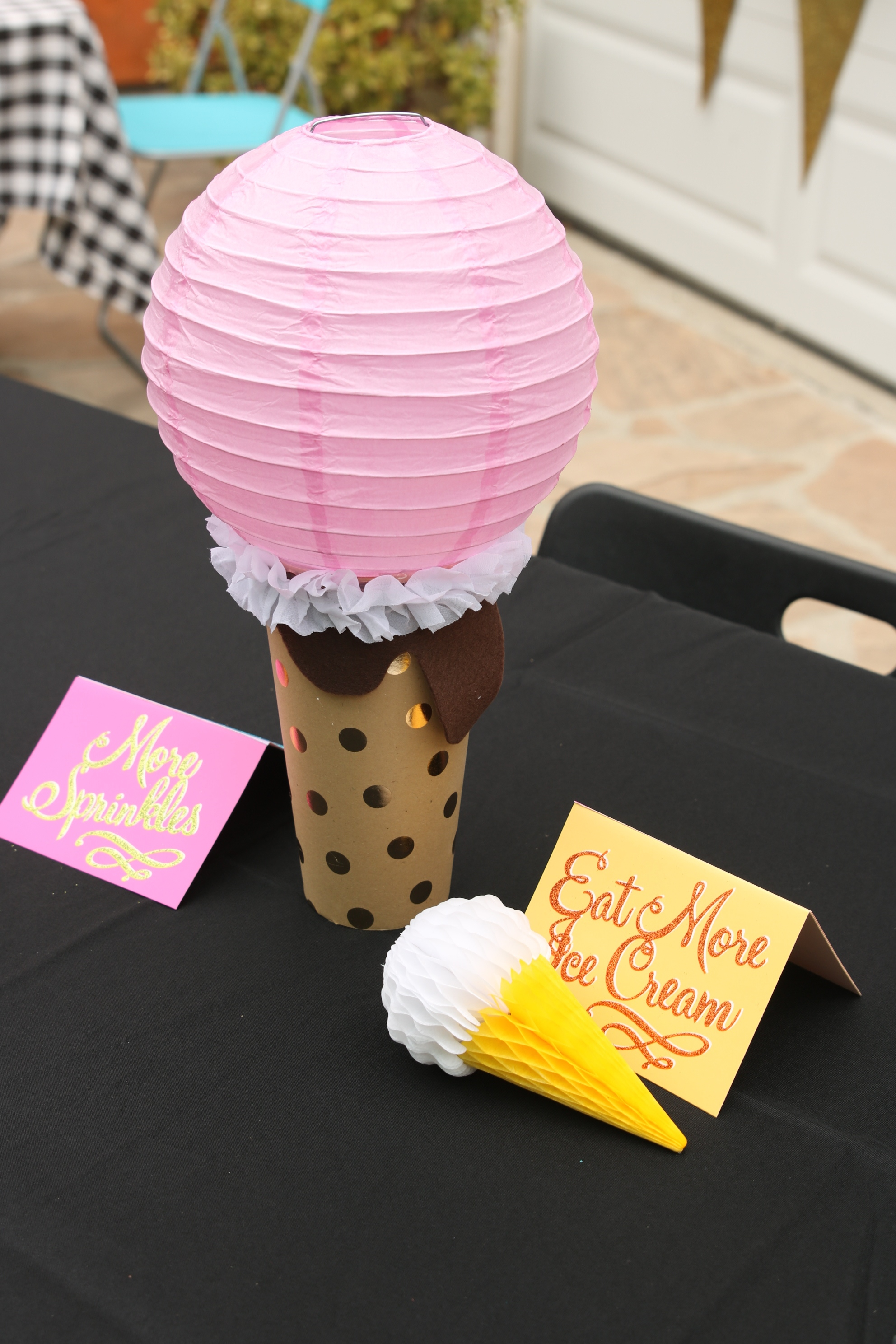 How to Make Ice Cream Party Centerpieces - Cathie Filian & Steve ...