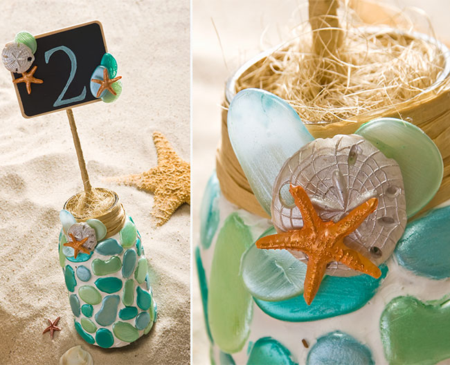 Diy Table Number Signs For A Beach Themed Wedding Or Event
